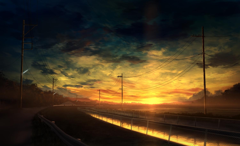 Anime sky wallpaper