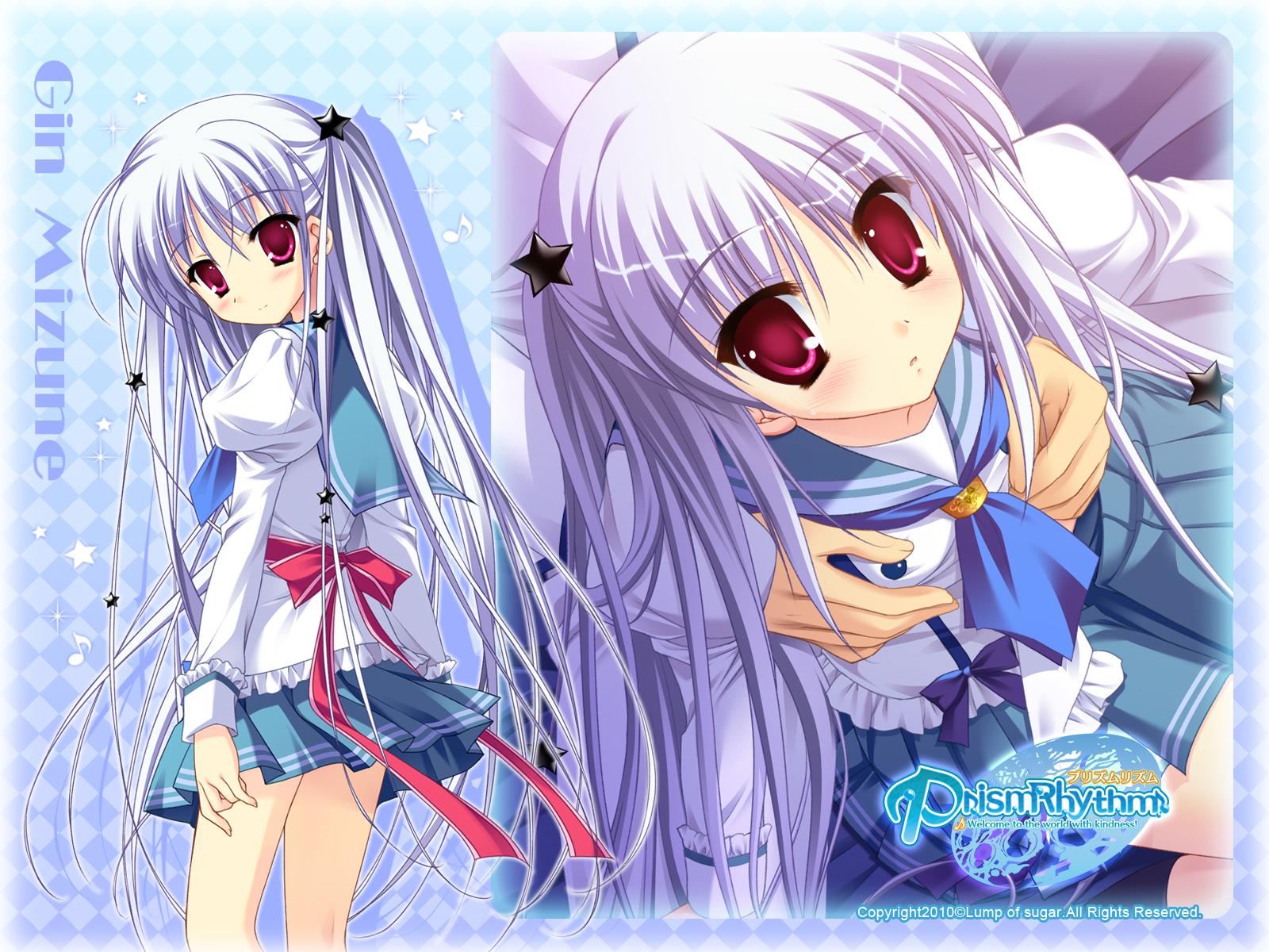 blue_hair breast_grab mizune_gin pink_eyes prism_rhythm school_uniform sesena_yau