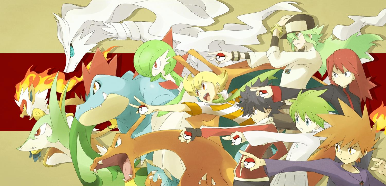 charizard feraligatr gardevoir hue_(pokemon) infernape n ookido_green pokemon reshiram serperior silver souji