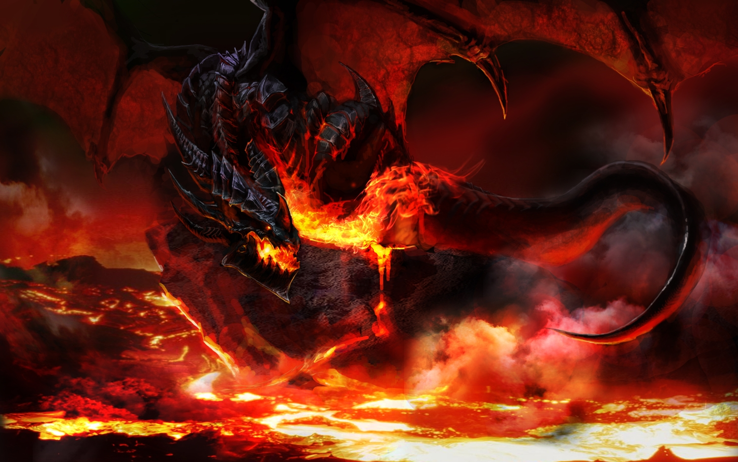 deathwing dragon fire red world_of_warcraft