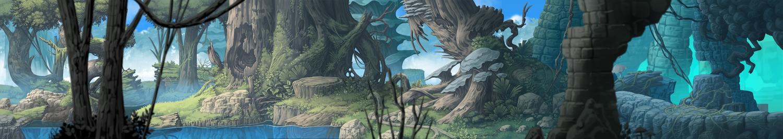 dualscreen forest nagi_itsuki nobody original scenic tree