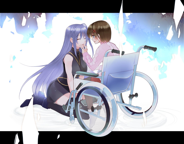 2girls mahou_shoujo_lyrical_nanoha reinforce yagami_hayate