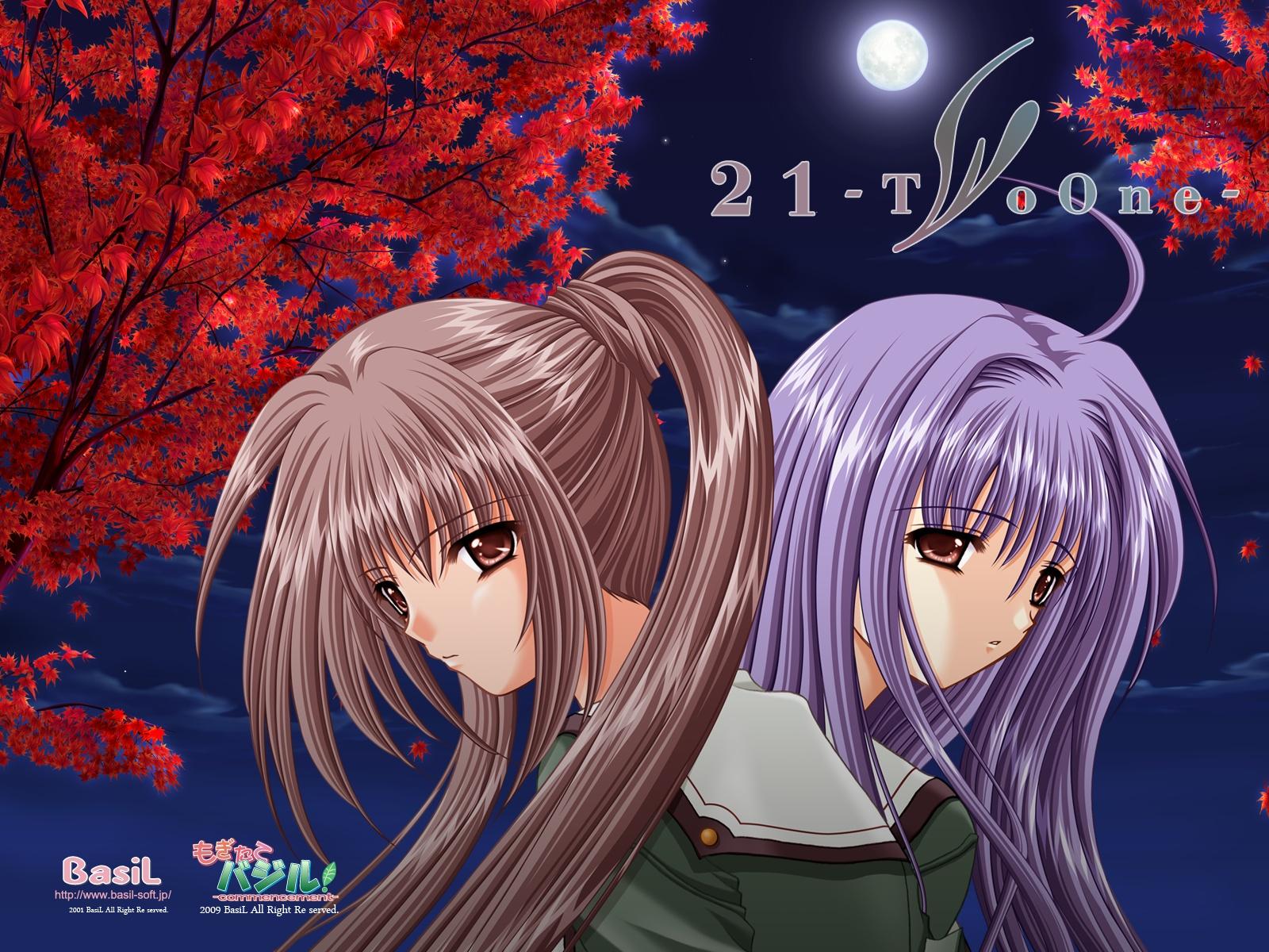 21 blue_hair brown_eyes brown_hair futami_mao futami_mio long_hair school_uniform twins