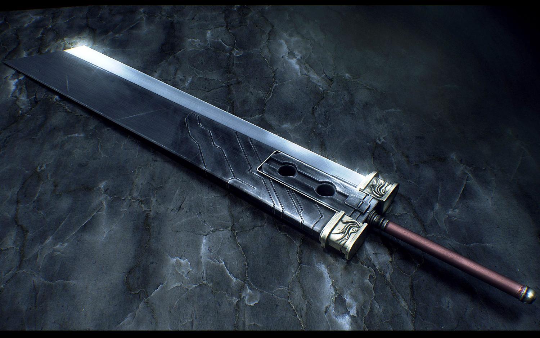 final_fantasy final_fantasy_vii sword weapon