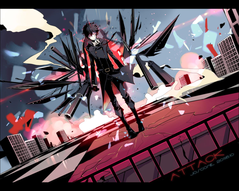 Anime Boy With Black Hair And Gun All Male Black Hair Gun