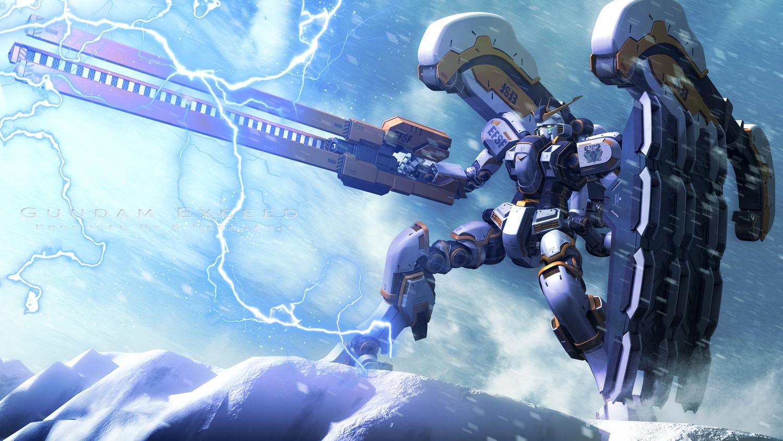 mecha mobile_suit_gundam mobile_suit_gundam_thunderbolt robot s.hasegawa snow watermark weapon