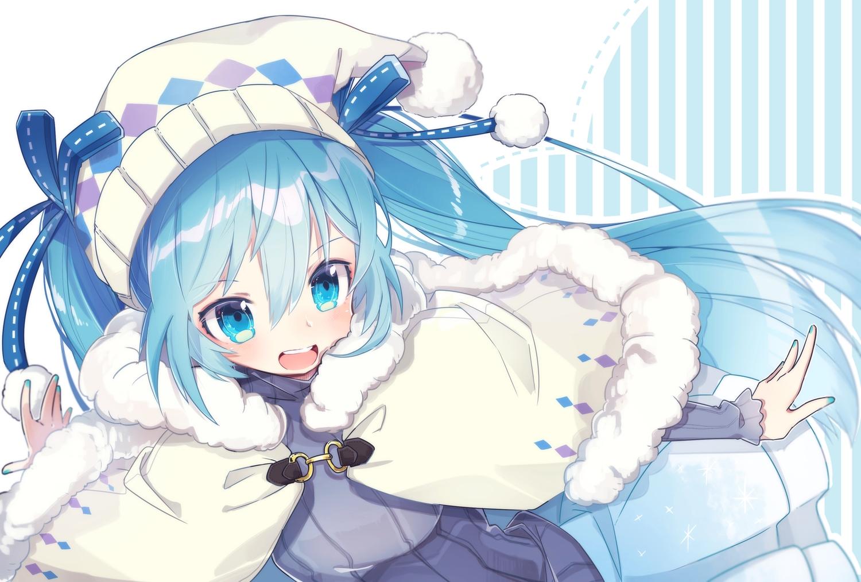 aqua_eyes aqua_hair blush chuuko_anpu close hatsune_miku loli long_hair twintails vocaloid yuki_miku