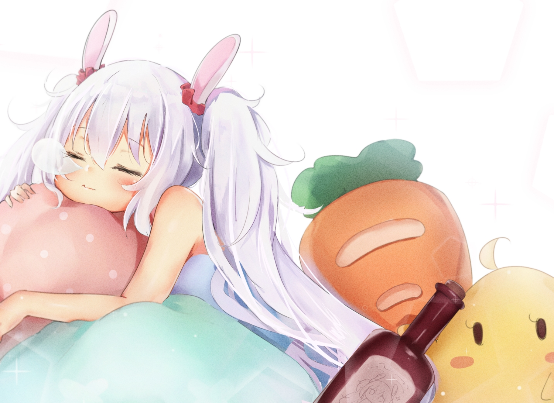 animal_ears anthropomorphism azur_lane bunny_ears bunnygirl laffey_(azur_lane) loli manjuu_(azur_lane) seboneko sleeping
