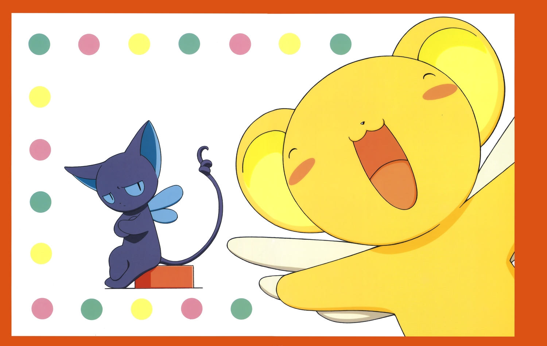 animal card_captor_sakura cat clamp kero scan spinel_sun wings