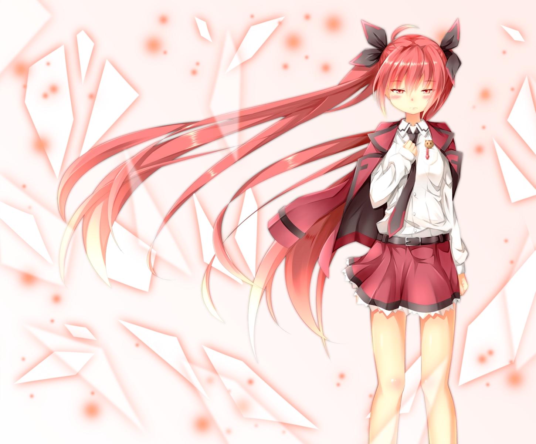 akira_aya_(msy_0107) date_a_live itsuka_kotori red_eyes red_hair twintails