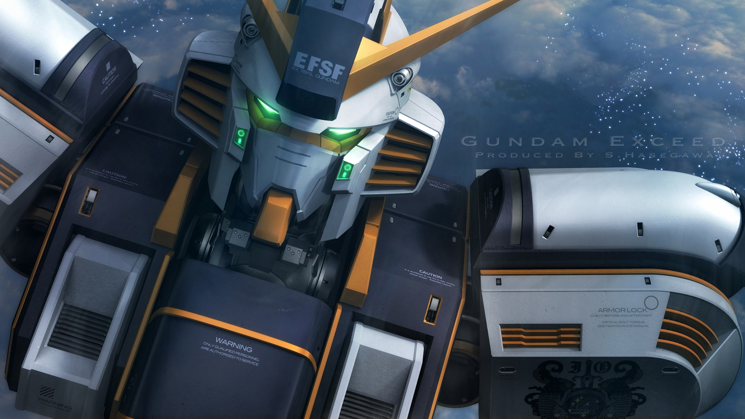 close mecha mobile_suit_gundam mobile_suit_gundam_thunderbolt robot s.hasegawa watermark