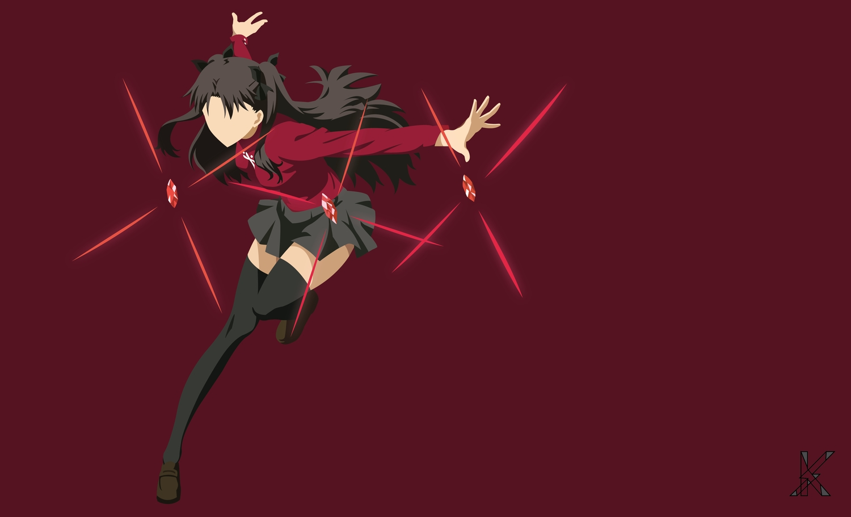 fate_(series) fate/stay_night skirt thighhighs tohsaka_rin vector zettai_ryouiki