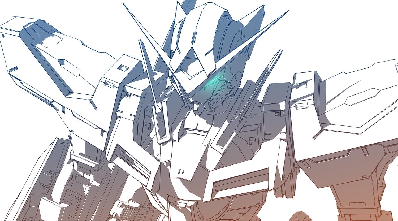 aliasing mecha mobile_suit_gundam mobile_suit_gundam_00 polychromatic white yagami_kentou
