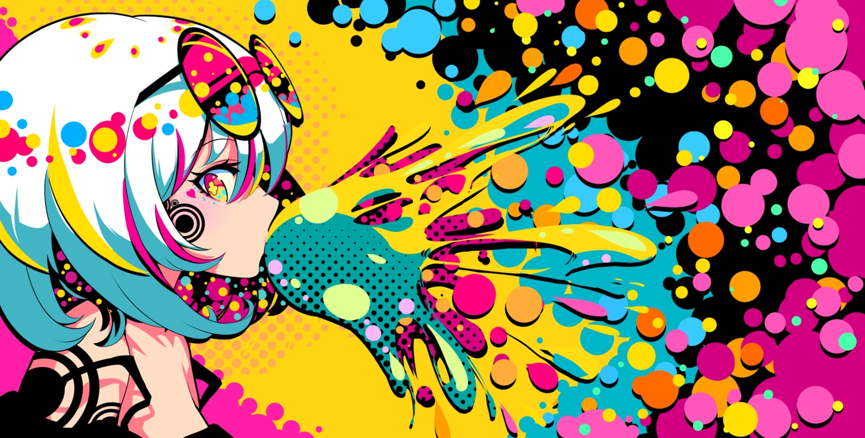 berryverrine close original polychromatic short_hair sunglasses white_hair yellow_eyes