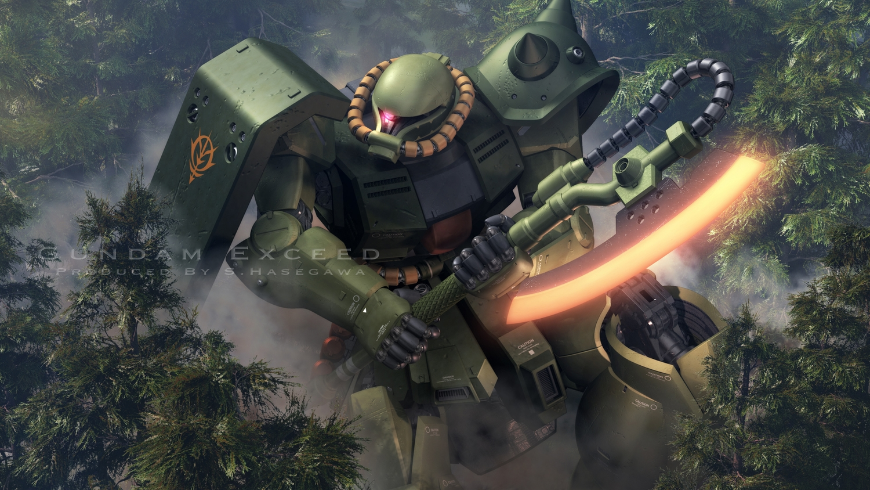 3d forest mecha mobile_suit_gundam mobile_suit_gundam_0080 s.hasegawa tree watermark weapon
