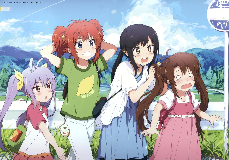 group ichijou_hotaru koshigaya_komari koshigaya_natsumi loli miyauchi_renge non_non_biyori ogipote scan