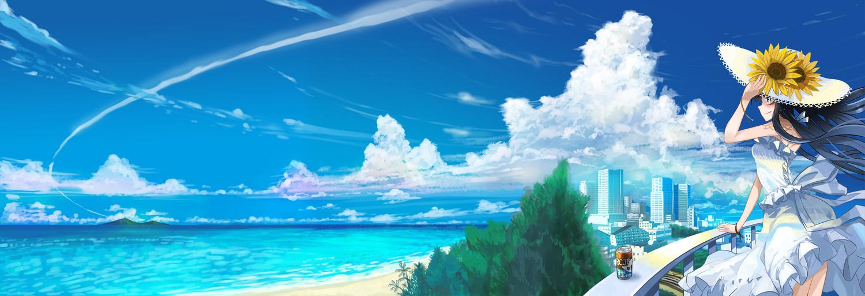 city clouds dress hat kanipanda original scenic sky summer