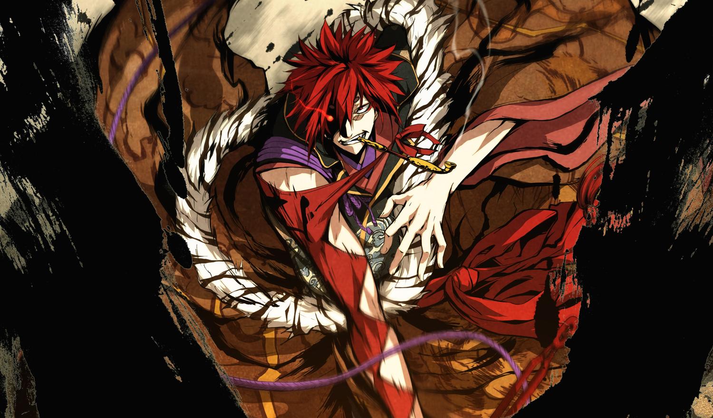 g_yuusuke game_cg kajiri_kamui_kagura red_hair sakagami_habaki smoking