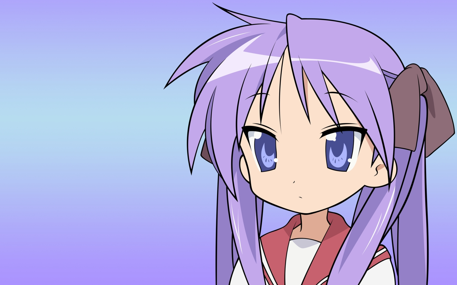 gradient hiiragi_kagami lucky_star purple_hair school_uniform vector