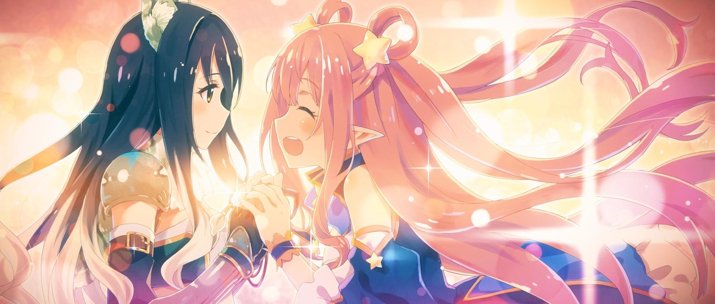 2girls kashiwazaki_hatsune kashiwazaki_shiori princess_connect! yuuki_tatsuya