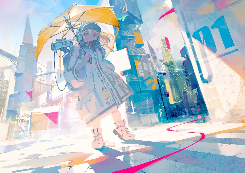 aamond building city headphones original umbrella
