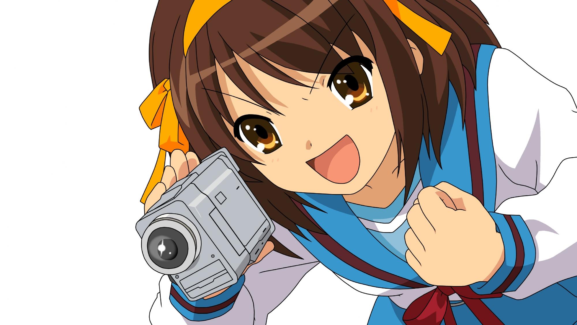 camera suzumiya_haruhi suzumiya_haruhi_no_yuutsu vector white