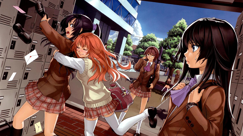 Anime high ponytail