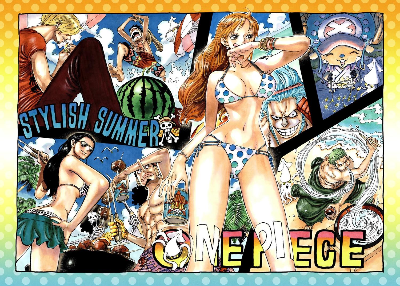 bikini brook franky monkey_d_luffy nami nico_robin oda_eiichirou one_piece roronoa_zoro sanji summer swimsuit tony_tony_chopper usopp