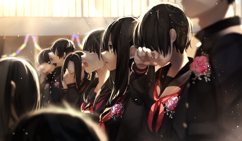 crying group male original seifuku tears yuzua