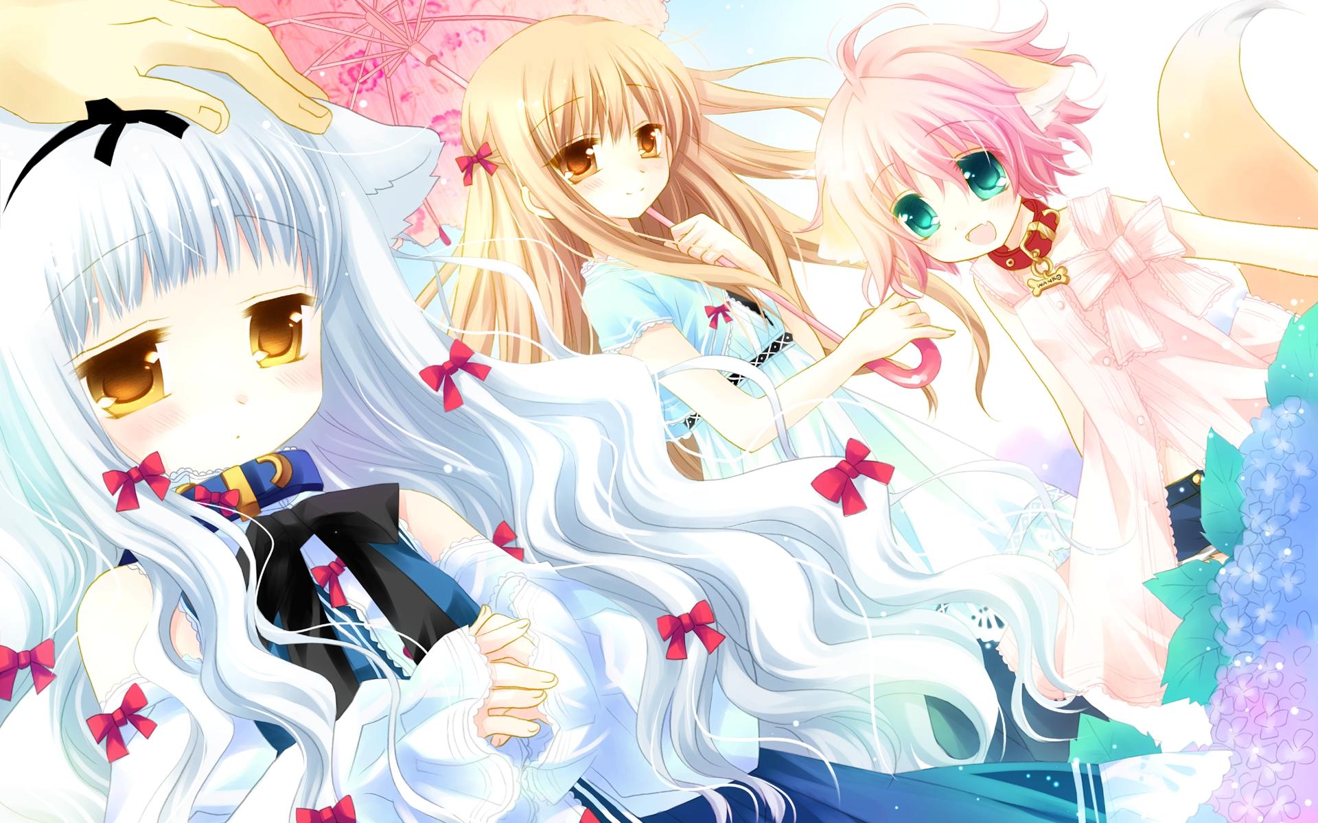 animal_ears blush fang foxgirl lily_(w&l) sakurazawa_izumi tail touko wanko wanko_to_lily