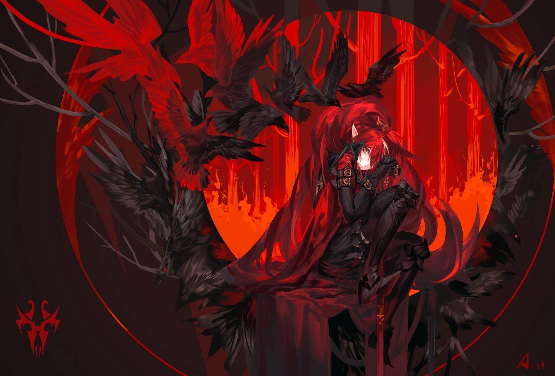 Парень с чёрно-красными волосами