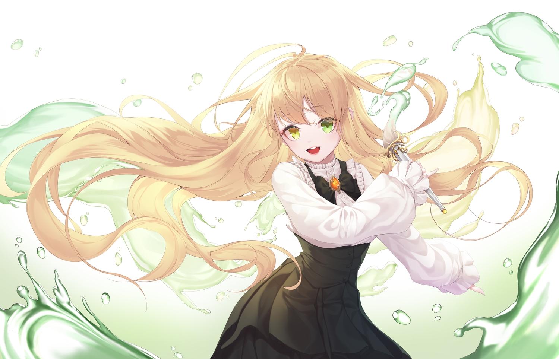 bicolored_eyes blonde_hair long_hair original worl_a
