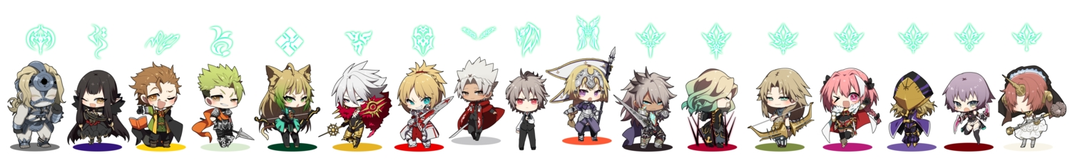 achilles animal_ears astolfo atalanta_(fate) chibi chiron fate/apocrypha fate_(series) frankenstein group jack_the_ripper jeanne_d'arc_(fate) karna mordred ponita semiramis shirou_kotomine sieg_(fate/apocrypha) siegfried solomon_ibn_gabirol spartacus tail vlad_the_impaler william_shakespeare