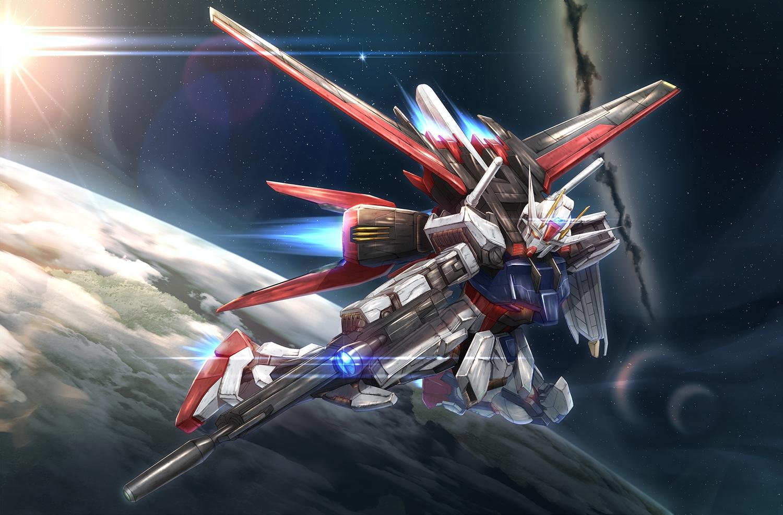 asaba_kakeru gundam_seed mecha mobile_suit_gundam planet space stars