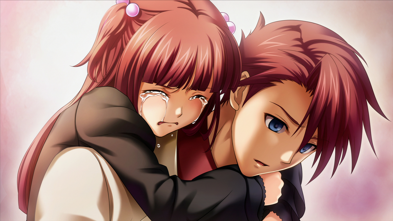 crying game_cg male red_hair tears umineko_no_naku_koro_ni ushiromiya_ange ushiromiya_battler