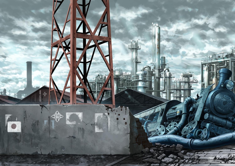 clouds industrial nobody original ruins scenic sky train yacchino