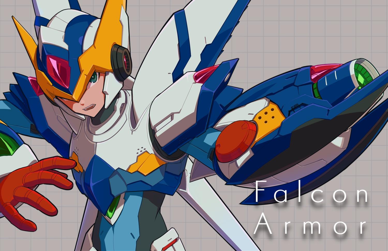 all_male armor green_eyes male robot rockman rockman_x user_fuyz3388 x_(rockman)