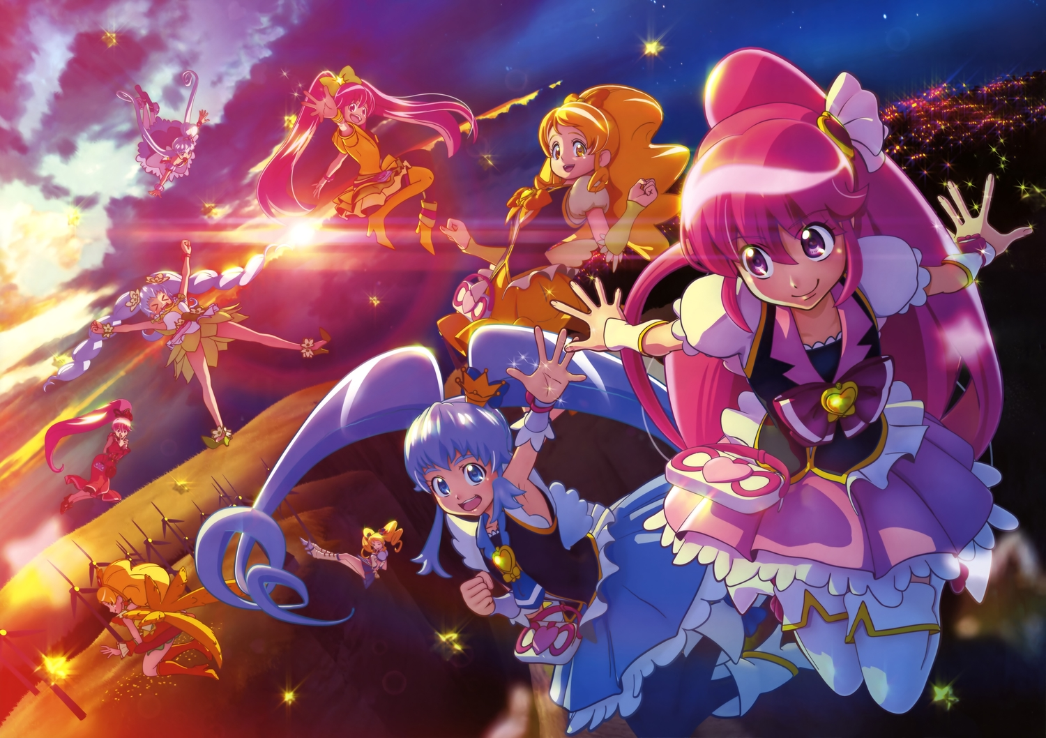happinesscharge_precure! precure scan sunset tagme
