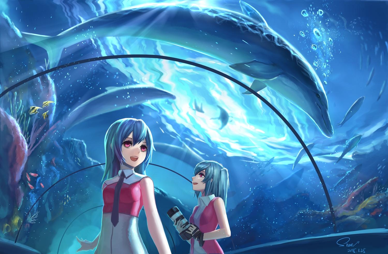 Обои аквариум аниме для рабочего стола