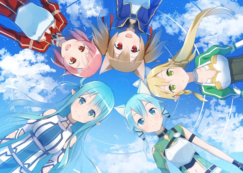 ayano_keiko .com group kirigaya_suguha lisbeth shinon_(sao) sword_art_online yuuki_asuna